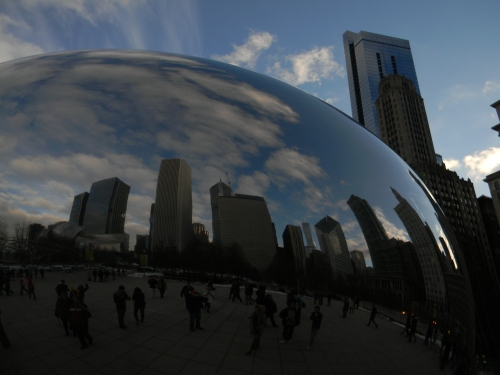 Chicago as seem by Cloud Gate