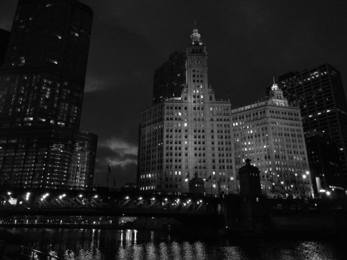 From the Chicago River, Black and White